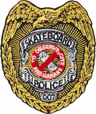 Powell Peralta Skateboard Police Badge 3.5