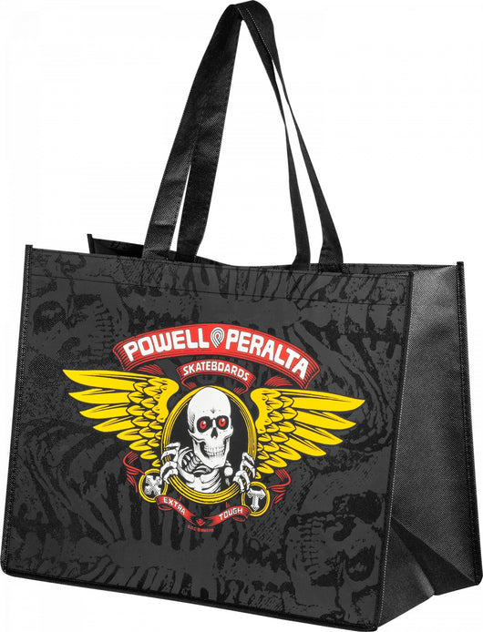 Powell Peralta Winged Ripper 12 x 16 non woven black Shopping Bag