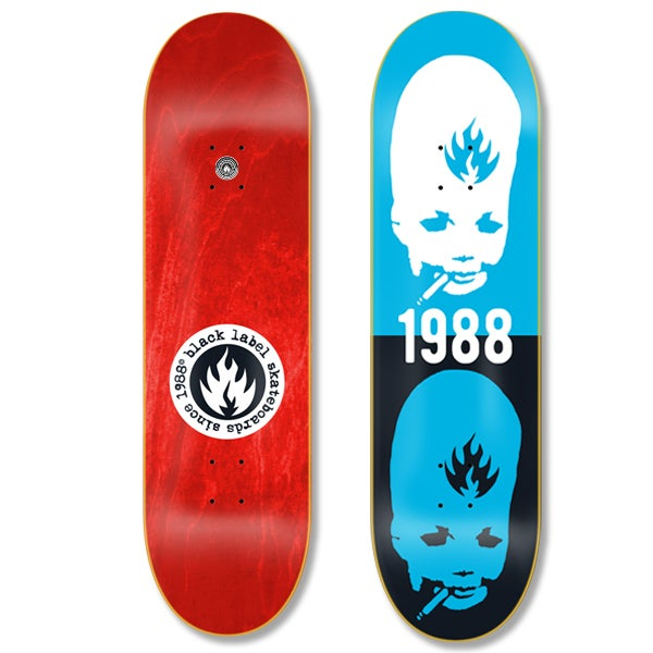 """Black Label Thumbhead Stacked 8.75"""" Skateboard Deck"""