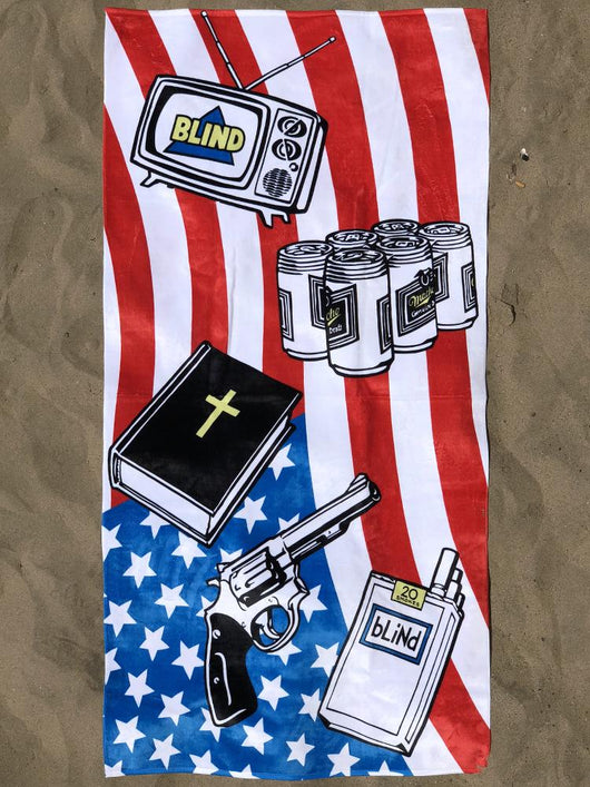 Blind Skateboards American Icons Beach Towel