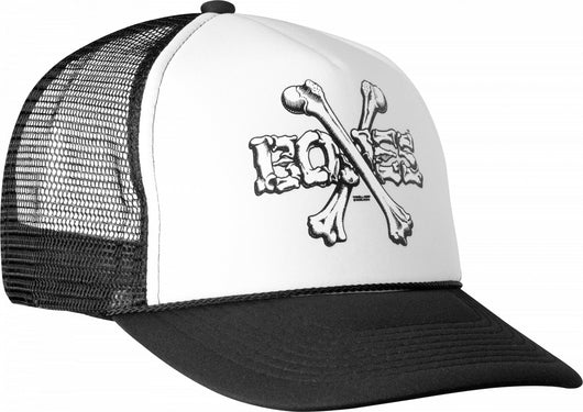 Powell Peralta Cross Bones Trucker Hat Black/White