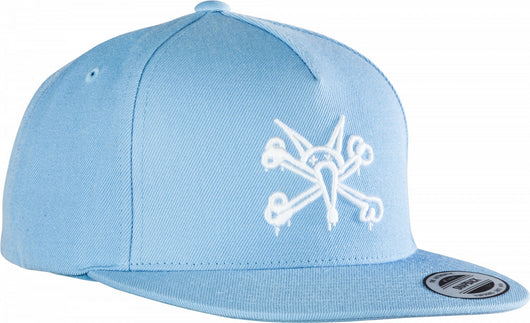 Powell Peralta Vato Rat Snapback Cap Powder Blue Hat