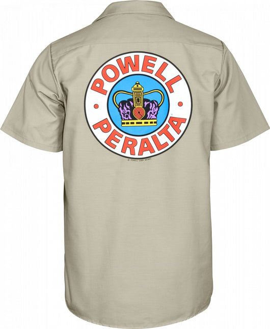 Powell Peralta Supreme Khaki Work Shirt