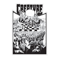 Creature Checkerboard 3.5 x 5.25 Decal / Sticker