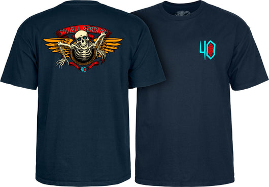 Powell Peralta 40th Anniversary Winged Ripper T-shirt - TheDarkSlide