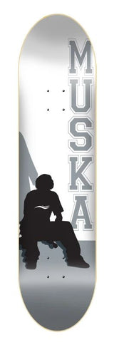 "Shorty's Chad Muska Grey Silhouette 7.5"" Skateboard Deck"