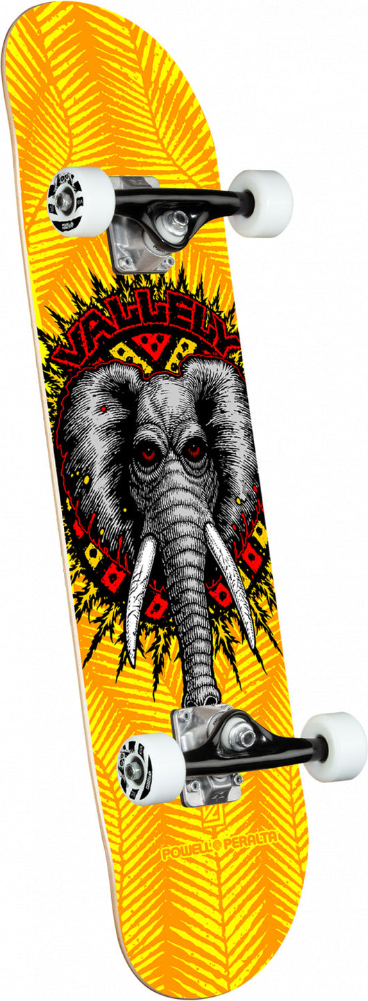 Powell Peralta Mike Vallely Elephant Yellow Complete Skateboard 8 x 31.45