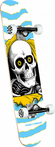 Powell Peralta Ripper Light Blue Complete Skateboard 7.5 x 30.7