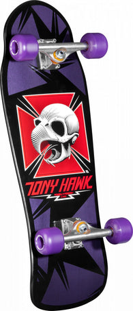 Powell Peralta Tony Hawk Skull Purple/Black Old School Complete Skateboard