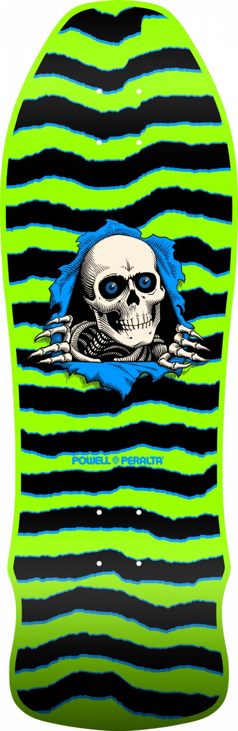 Powell Peralta Ripper Geegah Green Skateboard Deck