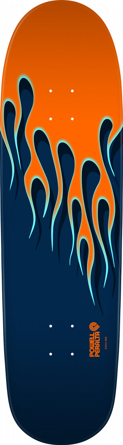 Powell Peralta Hot Rod Flames Orange/Blue Skateboard Deck