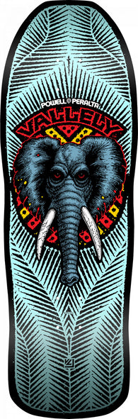 Powell Peralta Mike Vallely Elephant Blue Skateboard Deck