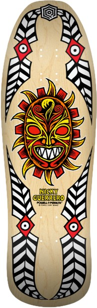 Powell Peralta Nicky Guerrero Mask Natural Skateboard Deck