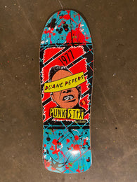 Punk Stix Duane Peters Splatter 80's Skateboard Deck