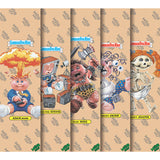 "Mob / Garbage Pail Kids 9"" x 33"" Clear Skateboard Graphic Grip Tape Lot includes all 5!"
