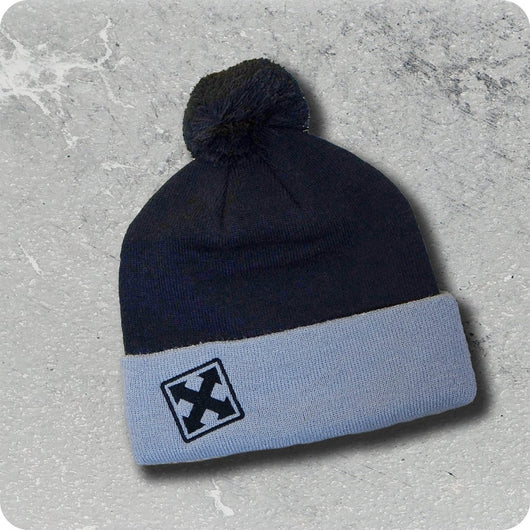 H-Street Embroidered Pom Beanie