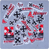 H-Street Skateboards 33 pack of assorted Stickers T-Mag, Hensley, & More!