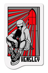 H-Street Matt Hensley Stained Glass Skateboard Sticker