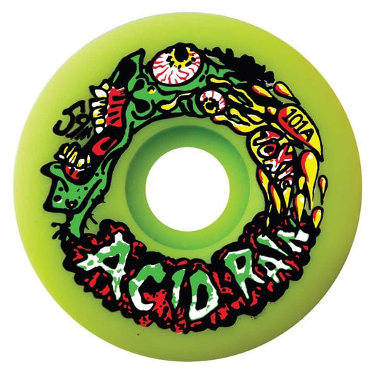 Toxic Skates Acid Rain 59mm 101a Flo Green Skateboard Wheels LTD 100