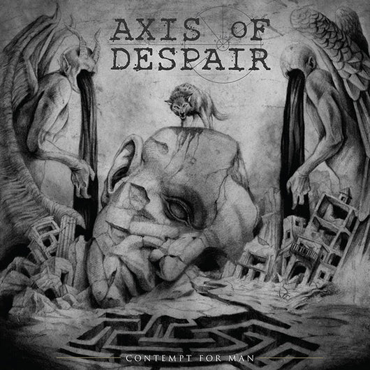 Axis of Despair - Contempt For Man LP Silver Vinyl