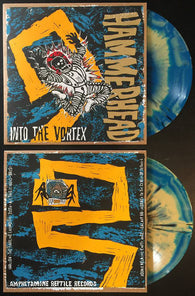 Hammerhead - Into the Vortex - Yellow Blue Vinyl LTD LP AmREP art by HAZE XXL