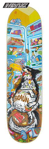 "Santa Cruz Braun Munchies 8.25"" Everslick Skateboard Deck"