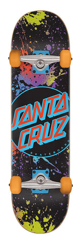 "Santa Cruz Dot Splatter Large Sk8 8.25"" Complete Skateboard"