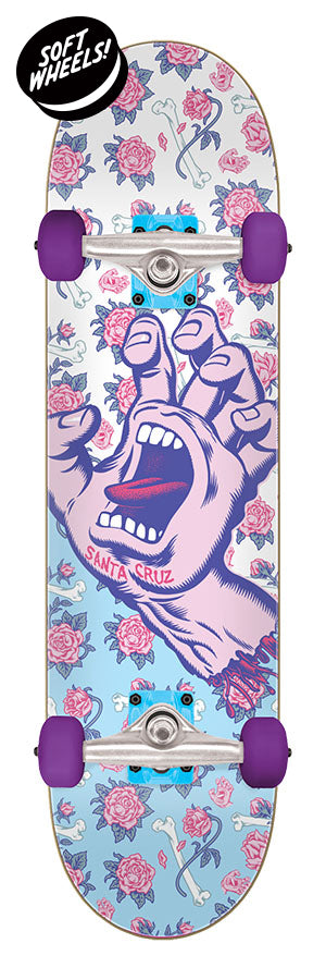Santa Cruz Screaming Hand Floral Decay Mini Sk8 Complete Skateboard 7.75 x 30