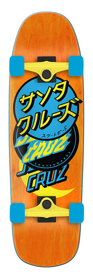 Santa Cruz Group Dot Complete 80s Cruzer Skateboard 9.51 x 32.26
