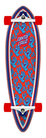 Santa Cruz Hands All Over Pintail Cruzer Complete Skateboard 9.2 x 33