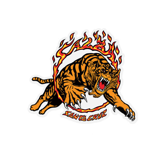 Santa Cruz Salba Tiger Skateboard Sticker 4 in x 3.5 in