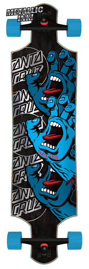 Santa Cruz Screaming Hand Stack Drop Down Complete Cruiser Skateboard 10 x 40