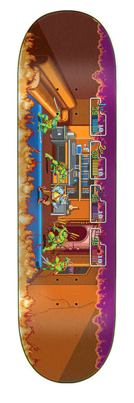 Santa Cruz / Teenage Mutant Ninja Turtles TMNT Arcade Everslick Skateboard Deck