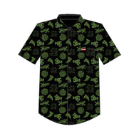 Santa Cruz x Teenage Mutant Ninja Turtles TMNT Cowabunga Short Sleeve Button-up Shirt