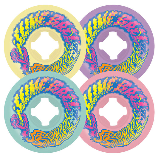 Santa Cruz Slime Balls Vomit Mini Pastel Mix Ups 56mm 97a Skateboard Wheels