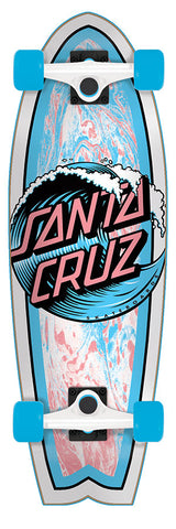 Santa Cruz Wave Dot Shark Cruzer Complete Skateboard 8.8 x 27.7