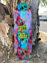 Punk Stix Skull Trip Pool Skateboard Deck