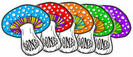 BONES WHEELS Portal Mushroom Skateboard Sticker