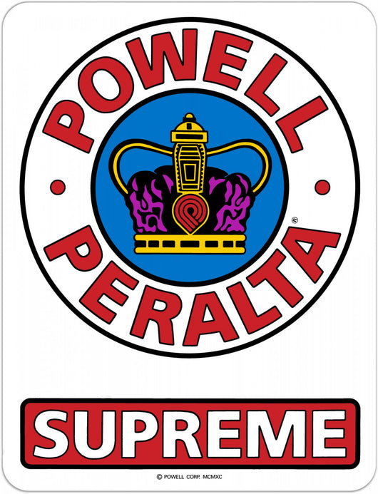 Powell Peralta Supreme OG Skateboard Sticker