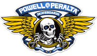 Powell Peralta Winged Ripper Blue Skateboard Sticker