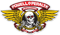 Powell Peralta Winged Ripper Red Skateboard Sticker