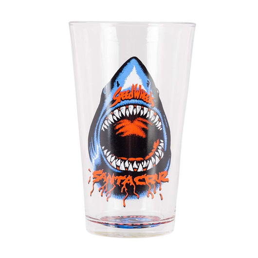 Santa Cruz Speed Wheels Shark Pint Glass
