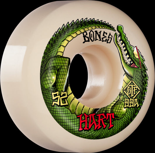 BONES STF Pro HART SPEED GATOR 52mm V5 Sidecuts 99a Skateboard Wheels