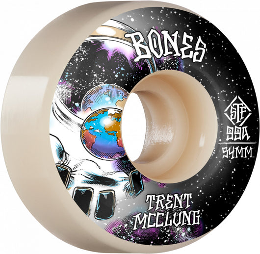 BONES STF Pro McClung Unknown V1 54mm 99a White Skateboard Wheels