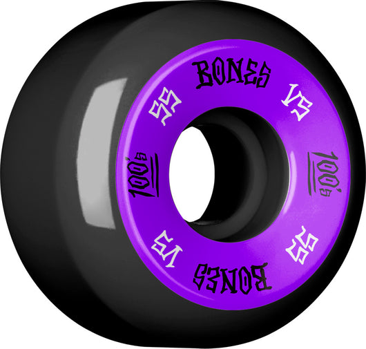 BONES WHEELS 100 55mm 100A Black 4pk Skateboard Wheels