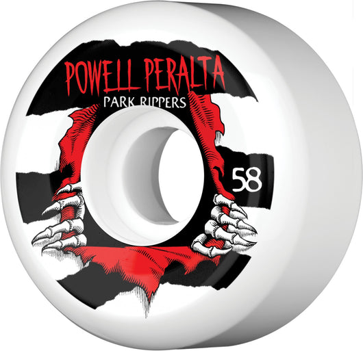 Wheels Powell Peralta Park Ripper 58mm PF Skateboard Wheels - TheDarkSlide