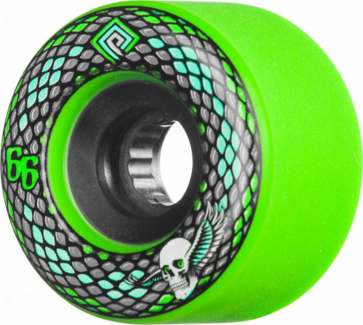 Powell Peralta Snakes 66mm 75a Green Skateboard Wheels