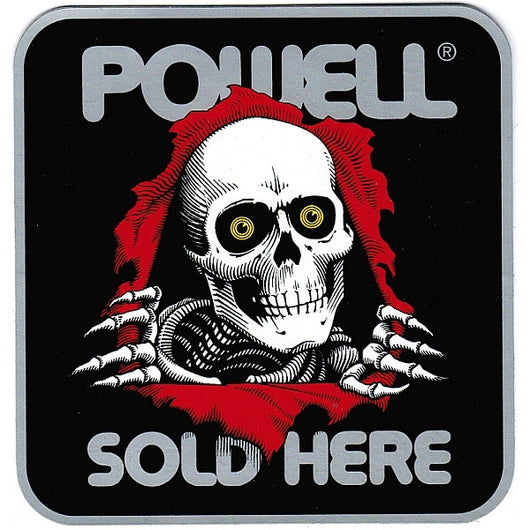 Powell Peralta Sold Here Ripper Double Sided Sticker