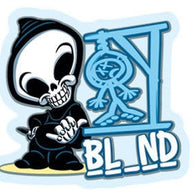 Blind Hangman Reaper Official Dealer Two-Sided Window Sticker
