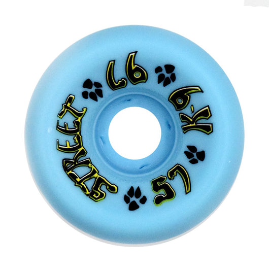 Dogtown K-9 LightBlue 57mm 97a 80's Skateboard Wheels